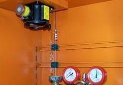 Gasüberwachung im Flaschenschrank im Fraunhofer IFAM in Dresden