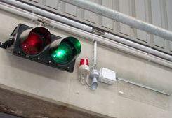 Akustische und optische Alarmierungsmittel im Entsorgungsbetrieb Troisdorf bei Köln/Bonn