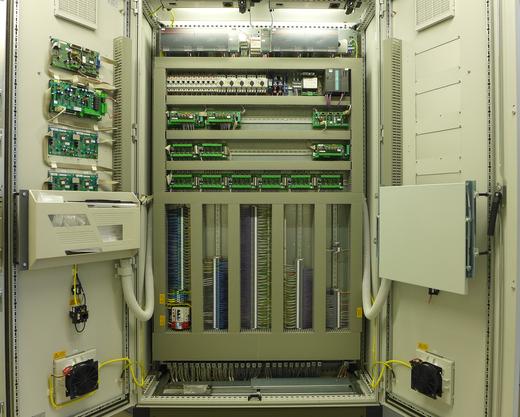 Innenansicht Schaltschrank Gaswarnanlage / Gassteuerung