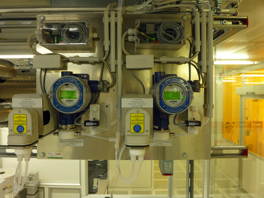 Diffusions-Messfühler mit separater Messgaspumpe im Reinraum