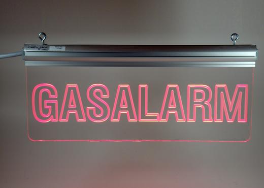 Leuchttransparent Gasalarm
