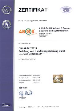 Zertifikat DIN SPEC 77224